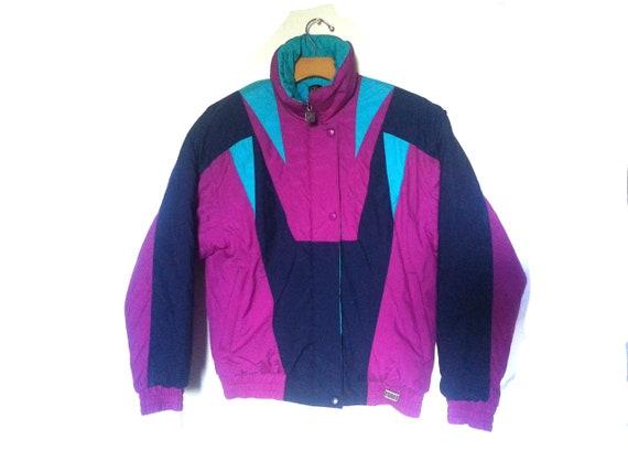 Rad Ski Jacket | Colorblock | Pink Teal |  Geometr