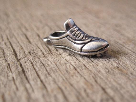 Vintage Running Shoe Charm Sterling Silver