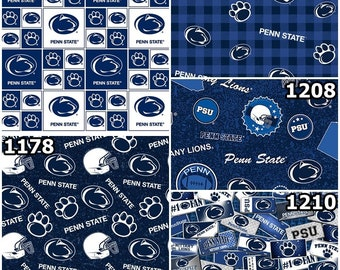 Penn State University Fat Quarter-NCAA Collegiate 100/% Cotton Fat Quarter