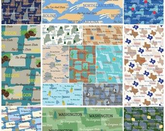 State Pride #52327 100% Fabric by Windham! Alaska, Arizona, Florida, Carolina, NY, Texas 10+ States [Choose Your Cut]