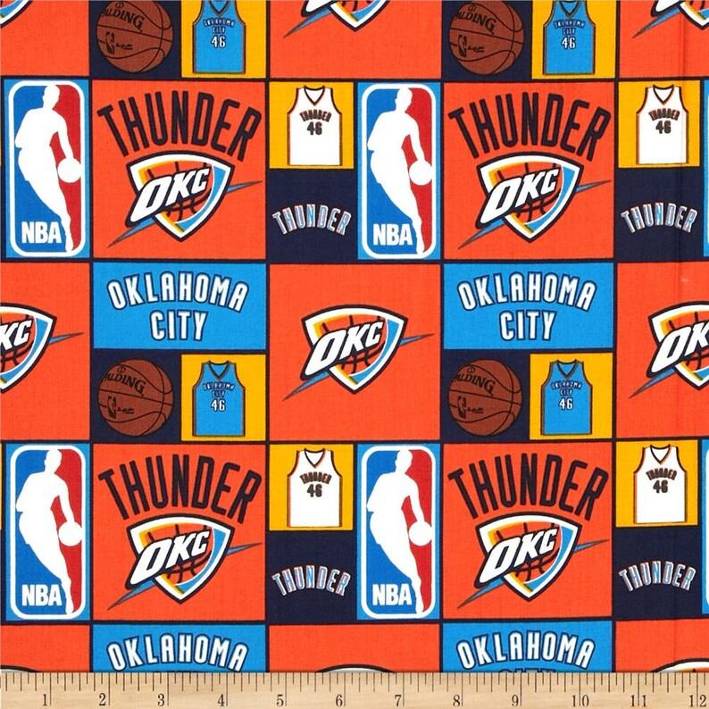 f2e5969048f NBA Logo Oklahoma City Thunder National Basketball Navy   Etsy