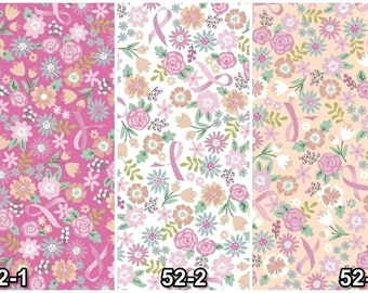 Cancer Awareness Ribbons Cotton Fabric! 23 Options! [Choose Your Cut Size]