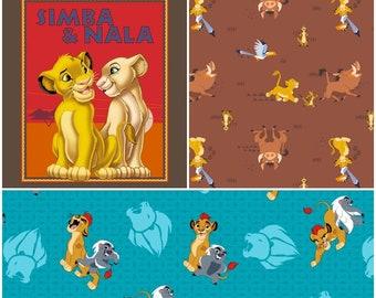 Disney le Roi Lion & Lion garde retour le rugissement de tissu de coton! 3 options [choisir votre taille de coupe]