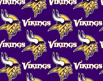 NFL Logo Minnesota Vikings 6456D Purple Cotton Fabric by Fabric Traditions! [Choose Your Cut Size]