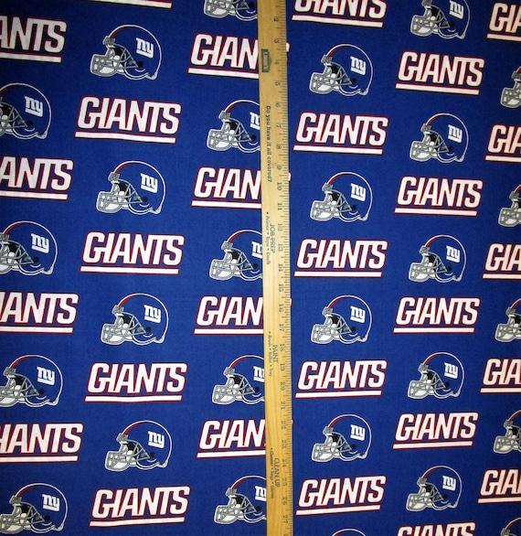 NFL Logo New York Giants 6314D Blue Cotton Fabric by Fabric  d615e5dc8