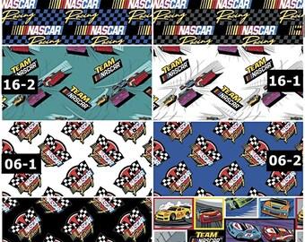 NASCAR National Association for Stock Car Auto Racing 100% Cotton Fabrics! 8 Styles [Choose Your Cut]