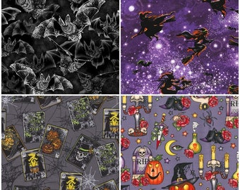 Halloween, Spooky, Bats, Cats, Witches, Potions and more! 4 Styles!  [Choose Your Cut Size]