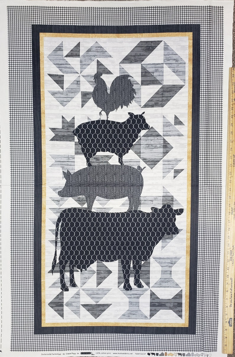 Buttermilk Farmstead 5331P-99 100/% Cotton Fabric 24 Panel by Studio E! Choose Your Cut