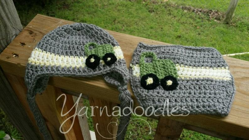 Crochet John Deere Hat Baby Boy Girl Newborn Infant Child Photography Prop
