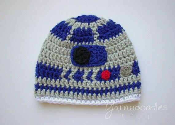 b2692c06af9 Robot Hat Droid Hat Crochet Star Wars R2D2 Hat Droid R2D2