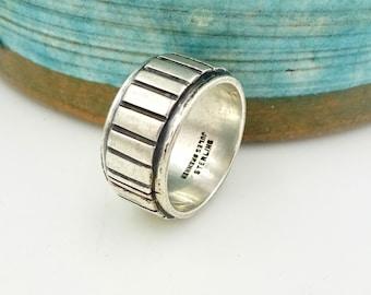 MODERNIST STERLING RING Jules Brenner Mid Century Modern Unisex Sterling Silver Wedding Band Ring Sz 6 Vintage