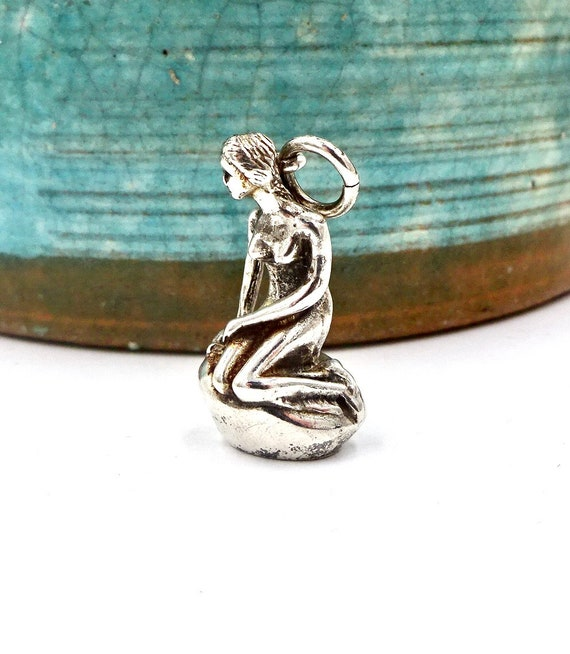 DENMARK LITTLE MERMAID Sterling Silver Figural Co… - image 3