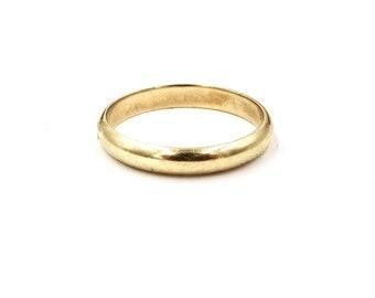VINTAGE WEDDING BAND 10K Yellow Gold Simple Elegance Band Sz 6.25 E117