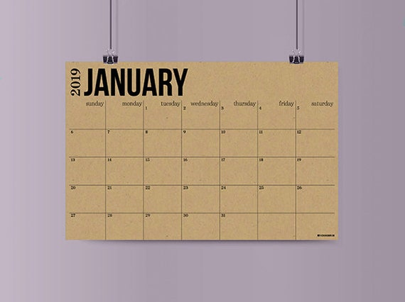 giant wall calendar diy image 2019 large wall calendar choose color big giant paper etsy