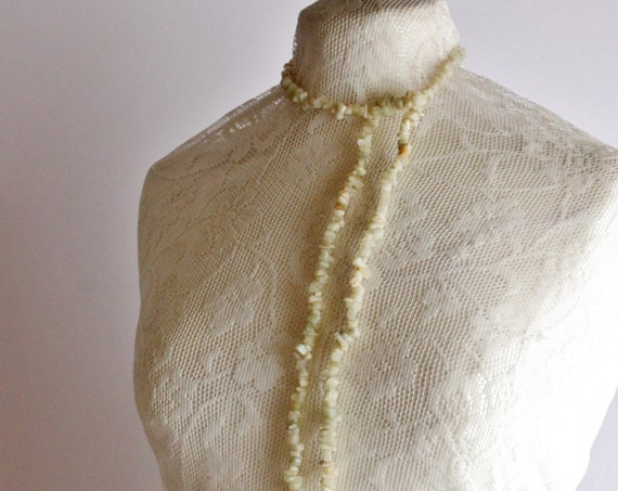 Vintage Onyx Necklace, Handmade Onyx Necklace, Vintage White Onyx Statement Necklace