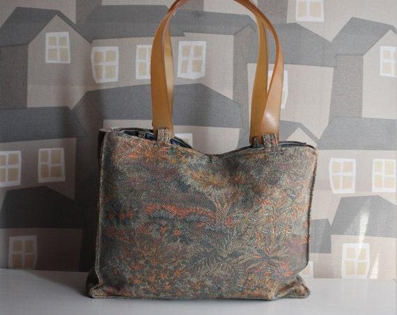 Vintage Upholstery Bag, Handmade Upholstery Bag, Vintage 100% Upcycled Bag