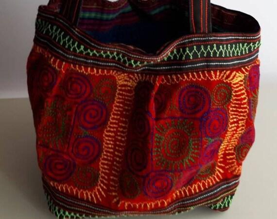 Handmade Ethnic  Bag, Handmade Ethnic Shoulder Bag, Altered Hand Embroidered Bag