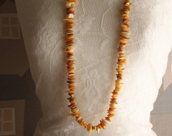 Coral Statement Necklace, Handmade Yellow and Orange Coral Necklace,  Summer Boho Chic Statement Necklace