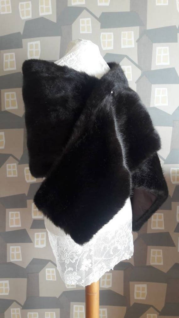 Vintage Faux Fur, Fur Bijou Model by Heinz Oestergaard , Vintage Brown Shoulder Fur