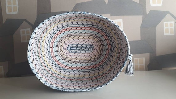 BY ORDER ONLY Modern Multicolour Basket , Bread/Fruit Basket/Bowl, Handmade Multicolour Basket