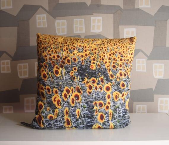 Sunflower PHOTOGRAPHY Cushion, Poplin Polyester 40x40cm, Design Photography Cushion