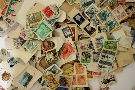 Worldwide STAMP COLLECTION, 100 Piece Sets, 30-60+ year old, Stamped or New, On Paper, or off Paper