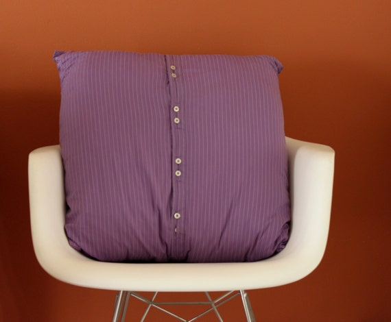 UPCYCLED Viola Striped Cushion, Handmade Cushion, Viola Cushion