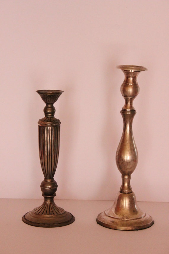 Silver Plated Candle Holders, Vintage Silver Candle Holders, Vintage Candelabra