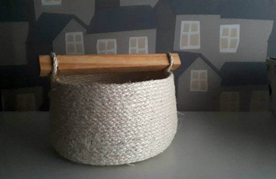 Sisal Baskets, Handmade Rope Baskets, Made To ORDER, Sisal Baskets for Home Decor