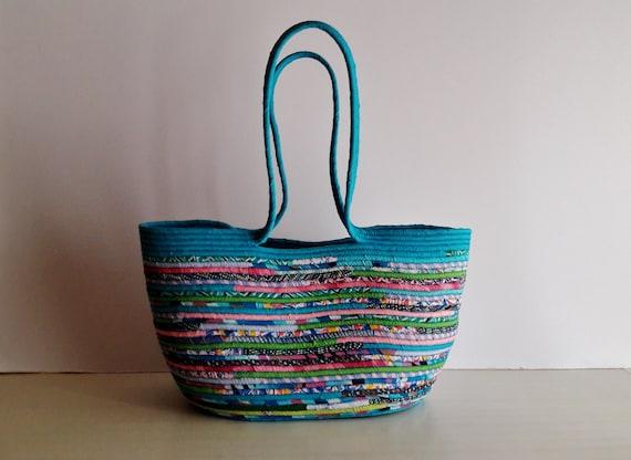 Bohochic Basket Bag, Multicolour Basketbag, Summer BohoChic Bag, Handmade Beach Bag