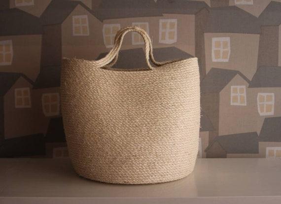 SISAL Basket Bag,  Sisal Beach Bag, Sisal Rope Handmade Beige Bag