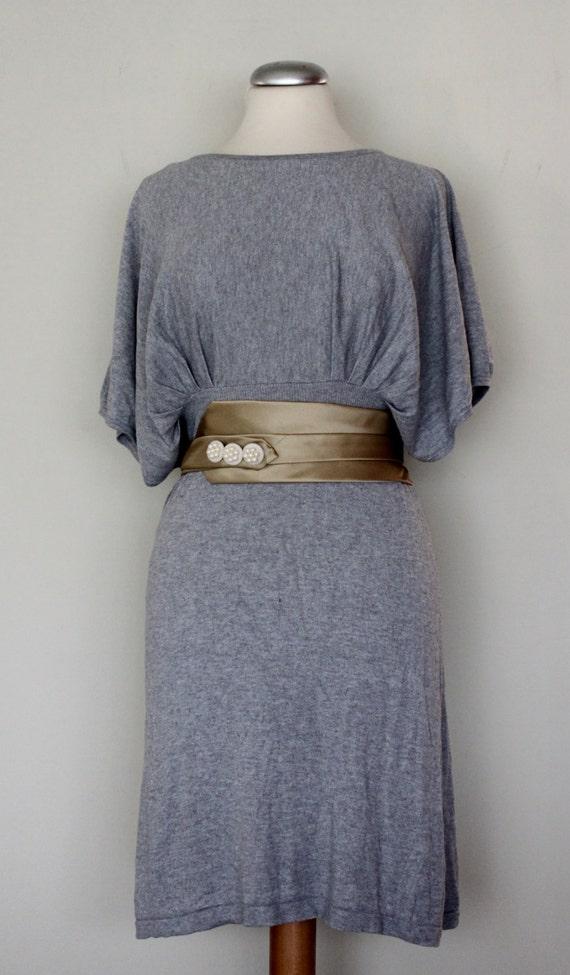Gold Wrap Around BELT, Vintage Tie Belt, Vintage Pearl Button Belt, Chi/ Classy Belt