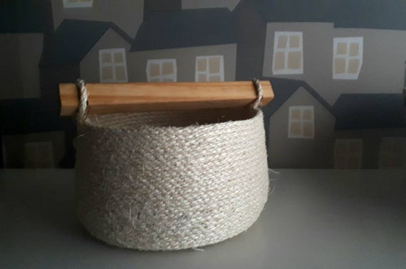 Sisal Baskets, Handmade Rope Baskets, Made To ORDER, Sisal Baskets for Home Decor
