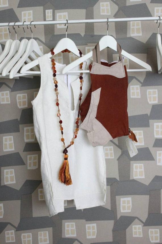 Leather Fringe Clutch Bag, Beige/Brown Sued Clutch Bag, Upcycled leather Clutch Bag