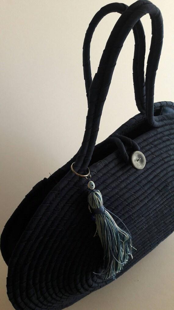 BY ORDER ONLY: BluePinkLime Basket Bag Summer BohoChic Bag Handmade Denim Bag Multicolour Basketbag