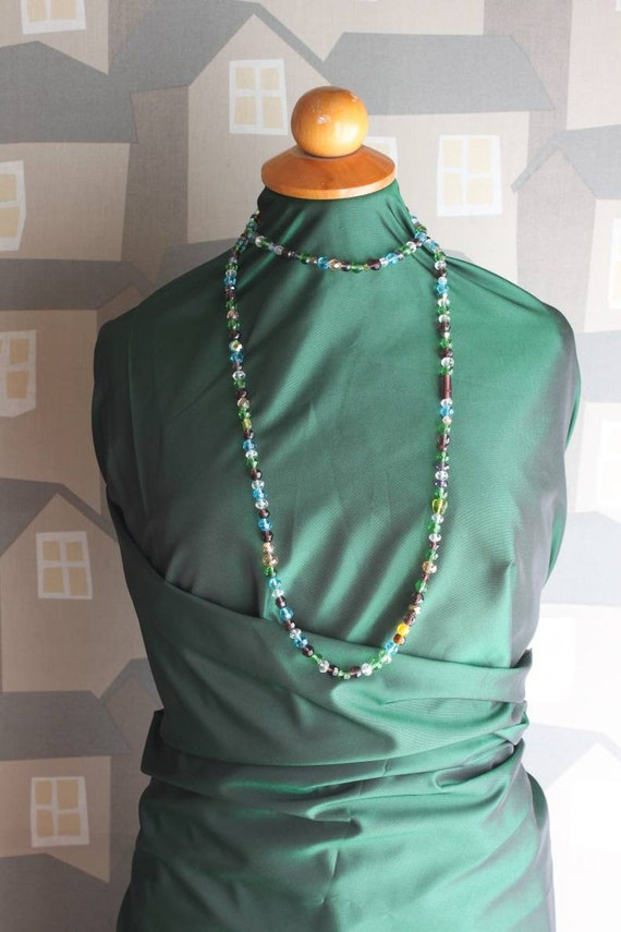 Handmade Statement Necklace, Handmade Multicolour Necklace, Crystal Beats Statement Necklace