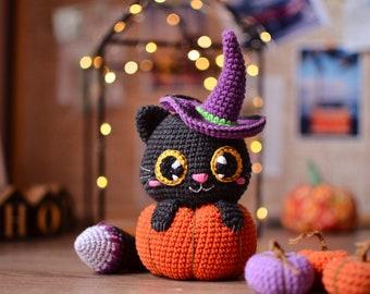 Crochet pattern cat in pumpkin pdf