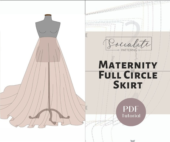 Maternity Full Circle Skirt PDF Tutorial. DIY Maternity Gown | Etsy