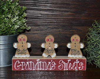 gingerbread decor personalized christmas gingerbread family block set personalized grandma gift christmas decoration personalized holiday - Gingerbread Christmas Decorations Beautiful To Look