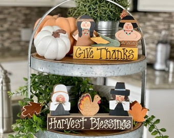 Fall Tiered Tray Decor Individual Thanksgiving Decor pieces for Tiered Tray, Fall Decor, Thanksgiving Decoration, Thanksgiving Hostess Gift