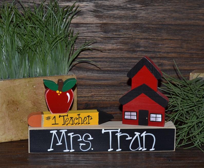 Personalized Teacher Gift Name Plate Wedding Gift For Teacher Etsy