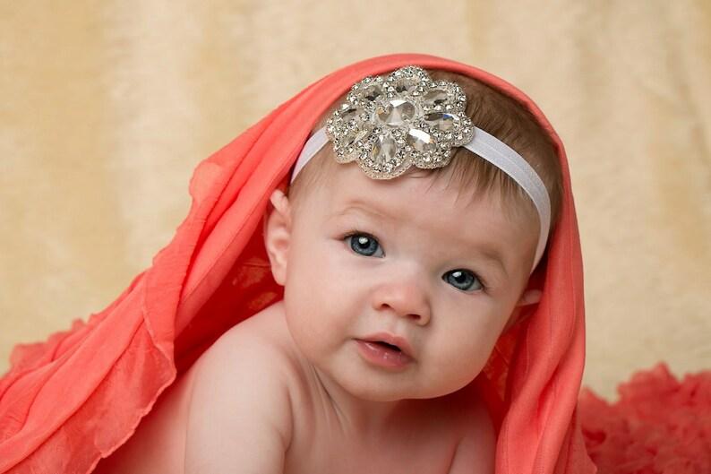 Bébé Nouveau-né Crème rustique Floral Serre-tête halo Photographie Photo Prop Mariage