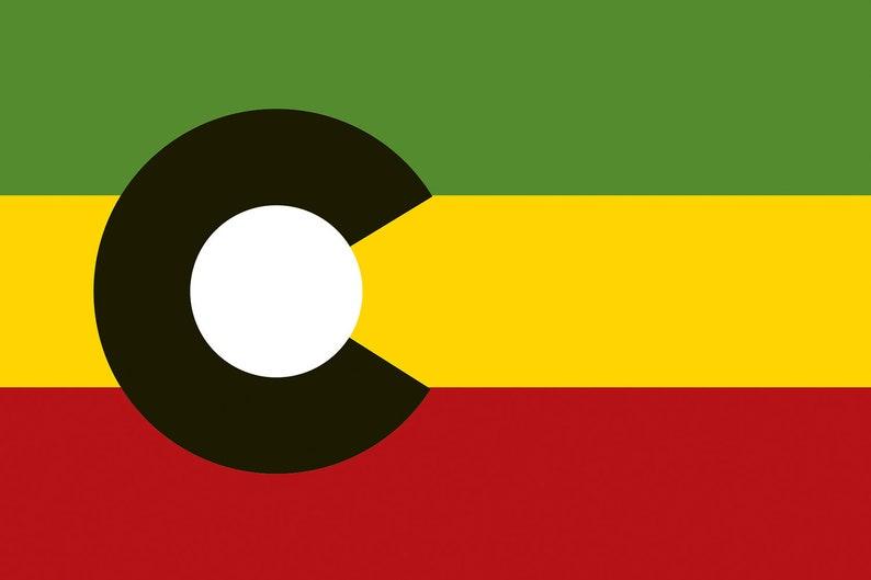ColoRasta Flag Sticker image 0