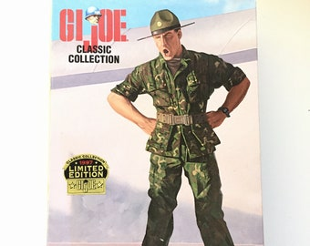 GI Joe Classic Collection U.S. Army Drill Sergeant / 1997 Classic Collection / Limited Edition Figurine / Collectible Kenner Toy