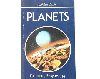 Planets- A Golden Guide / Vintage Field Guide / Golden Nature Guide / Book on Space / Limited Edition /