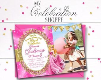 Sleeping Beauty Invitation Birthday Princess Aurora