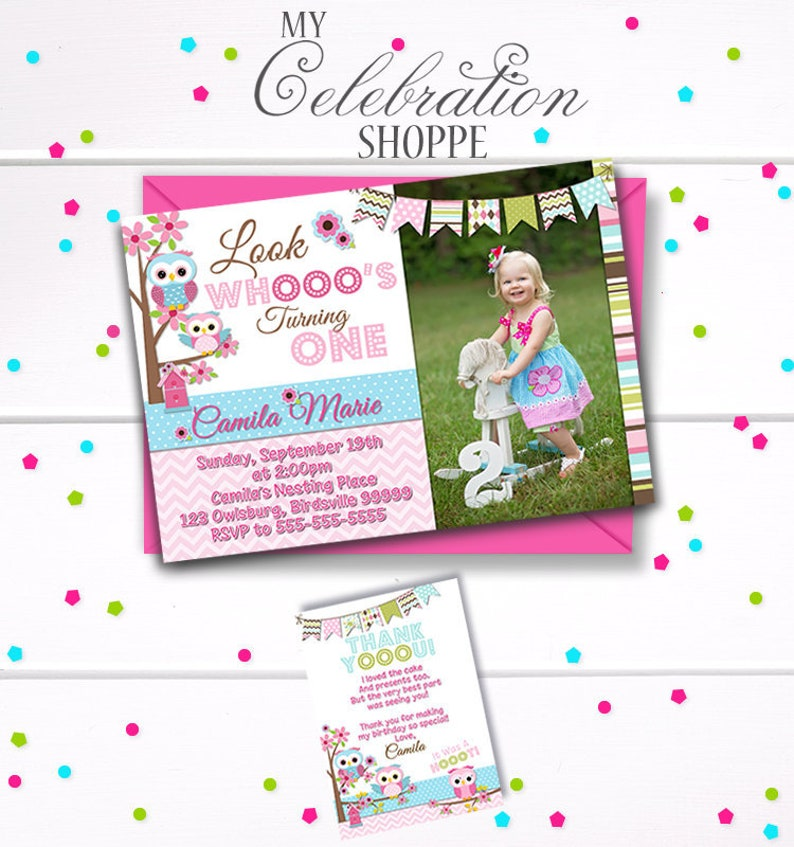 OWL Birthday Invitation Invitations Owl Party