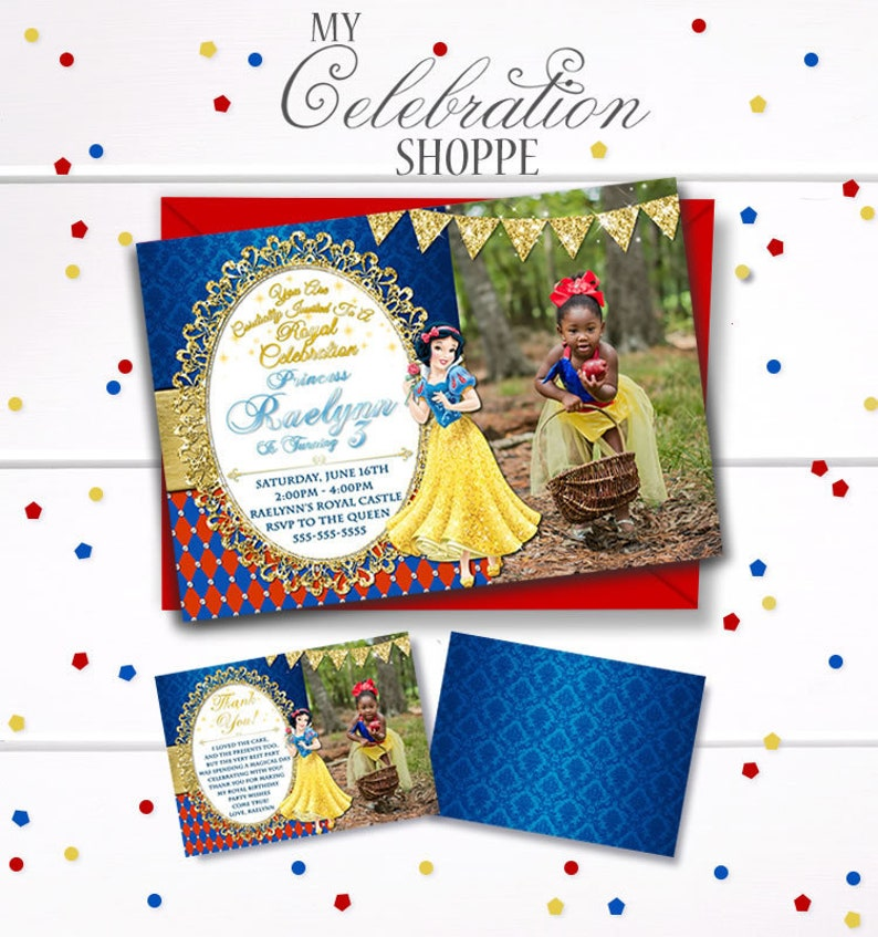 image about Snow White Invitations Printable titled Snow White, Snow White Invites, 7 Dwarfs, Princess Invites, Princess Printables, Snow White Birthday Get together, Snow White Pirntable