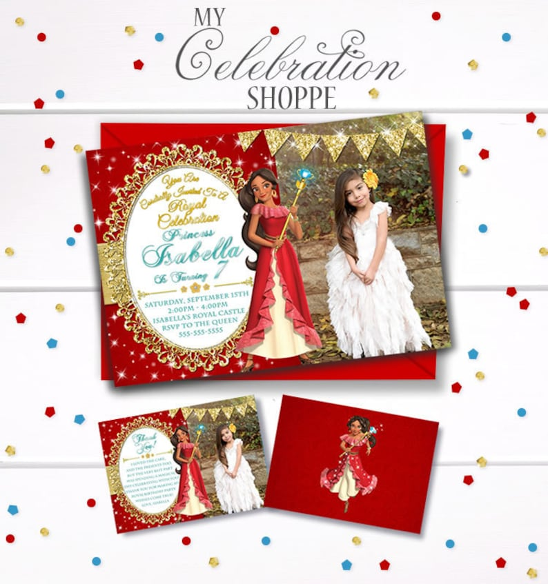 Princess Birthday Invitation Elena