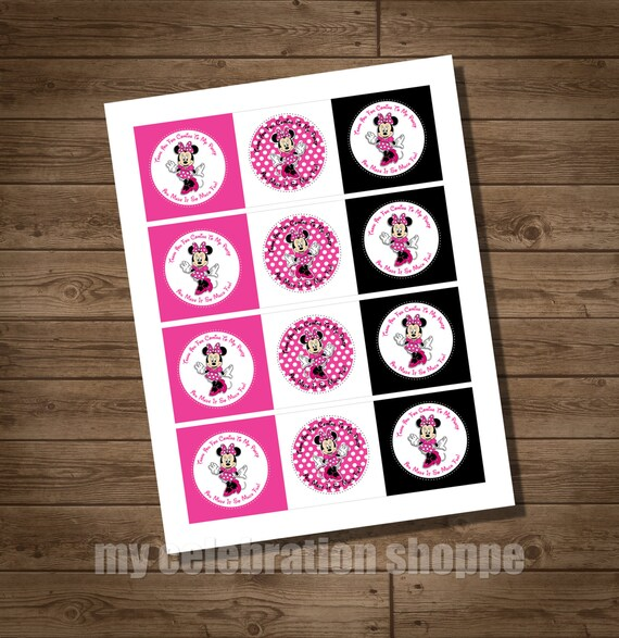 Items Similar To INSTANT DOWNLOAD MINNIE Mouse Pink Party